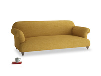 Large Soufflé Sofa in Mellow Yellow Clever Laundered Linen