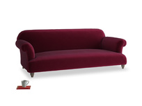 Large Soufflé Sofa in Merlot Plush Velvet