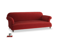 Large Soufflé Sofa in Rusted Ruby Vintage Velvet