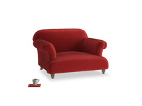 Soufflé Love seat in Rusted Ruby Vintage Velvet