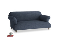 Medium Soufflé Sofa in Selvedge Blue Clever Laundered Linen
