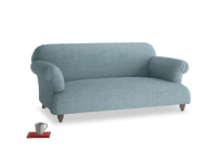Medium Soufflé Sofa in Soft Blue Clever Laundered Linen