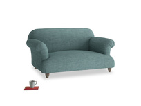 Small Soufflé Sofa in Blue Turtle Clever Laundered Linen
