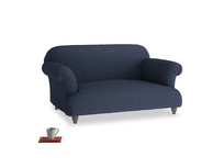 Small Soufflé Sofa in Night Owl Blue Clever Woolly Fabric
