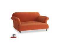 Small Soufflé Sofa in Old Orange Clever Deep Velvet