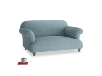 Small Soufflé Sofa in Soft Blue Clever Laundered Linen