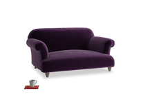 Small Soufflé Sofa in Deep Purple Clever Deep Velvet