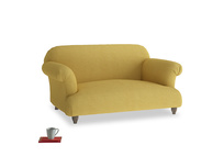 Small Soufflé Sofa in Easy Yellow Clever Woolly Fabric