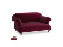 Small Soufflé Sofa in Merlot Plush Velvet