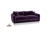 Small Squishmeister Sofa in Deep Purple Clever Deep Velvet
