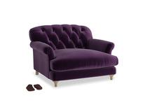 Truffle Love seat in Deep Purple Clever Deep Velvet