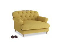 Truffle Love seat in Easy Yellow Clever Woolly Fabric