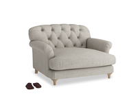 Truffle Love seat in Grey Daybreak Clever Laundered Linen