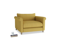 Weekender Love seat in Easy Yellow Clever Woolly Fabric