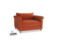 Weekender Love seat in Old Orange Clever Deep Velvet