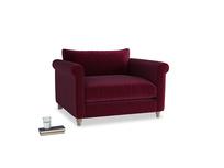 Weekender Love seat in Merlot Plush Velvet