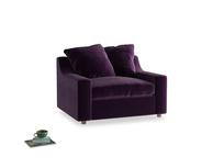 Cloud love seat sofa bed in Deep Purple Clever Deep Velvet