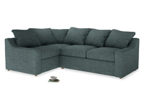Large Left Hand Cloud Corner Sofa in Anchor Grey Clever Laundered Linen