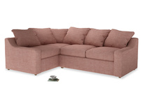 Large Left Hand Cloud Corner Sofa in Blossom Clever Laundered Linen