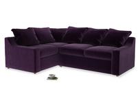 Large Left Hand Cloud Corner Sofa in Deep Purple Clever Deep Velvet