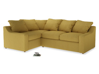 Large Left Hand Cloud Corner Sofa in Easy Yellow Clever Woolly Fabric