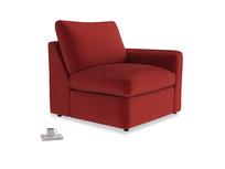 Chatnap Storage Single Seat in Rusted Ruby Vintage Velvet