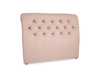 Double Dozer Headboard in Pale Pink Clever Woolly Fabric