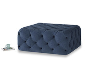 Oops-a-Lazy in Navy blue brushed cotton