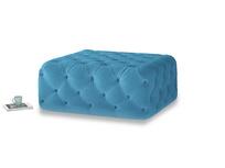 Oops-a-Lazy in Teal Blue plush velvet
