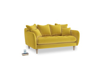 Small Skinny Minny Sofa in Bumblebee clever velvet