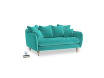 Small Skinny Minny Sofa in Fiji Clever Velvet