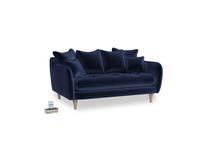 Small Skinny Minny Sofa in Midnight plush velvet