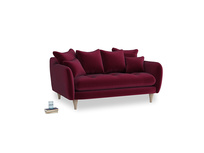 Small Skinny Minny Sofa in Merlot Plush Velvet