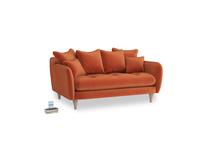 Small Skinny Minny Sofa in Old Orange Clever Deep Velvet
