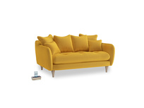 Small Skinny Minny Sofa in Pollen Clever Deep Velvet