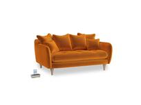 Small Skinny Minny Sofa in Spiced Orange clever velvet
