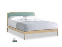 Kingsize Smoothie Bed in Greeny Blue Clever Deep Velvet