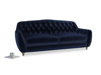 Large Butterbump Sofa in Goodnight blue Clever Deep Velvet