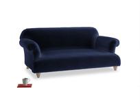 Medium Soufflé Sofa in Goodnight blue Clever Deep Velvet