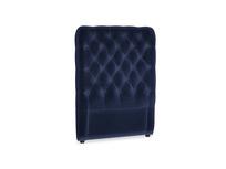 Single Tall Billow Headboard in Goodnight blue Clever Deep Velvet