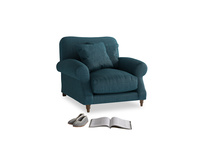 Crumpet Armchair in Harbour Blue Vintage Linen