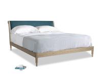 Superking Darcy Bed in Harbour Blue Vintage Linen