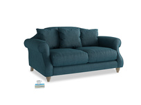 Small Sloucher Sofa in Harbour Blue Vintage Linen