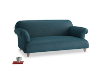 Medium Soufflé Sofa in Harbour Blue Vintage Linen