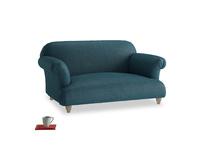 Small Soufflé Sofa in Harbour Blue Vintage Linen