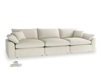 Large Cuddlemuffin Modular sofa in Stone Vintage Linen