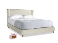 Kingsize Hugger Bed in Stone Vintage Linen