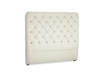 Double Tall Billow Headboard in Stone Vintage Linen