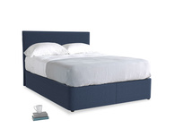 Navy Blue Brushed Cotton Space With Piper