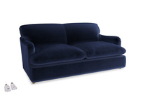Medium Pudding Sofa Bed in Goodnight blue Clever Deep Velvet